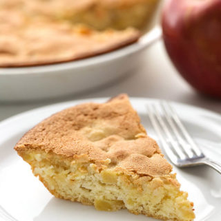 Norwegian Apple Pie is an easy cake like dessert with a nice apple flavor, and no fat! simplyhappyfoodie.com