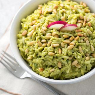 Avocado Curry Orzo Salad