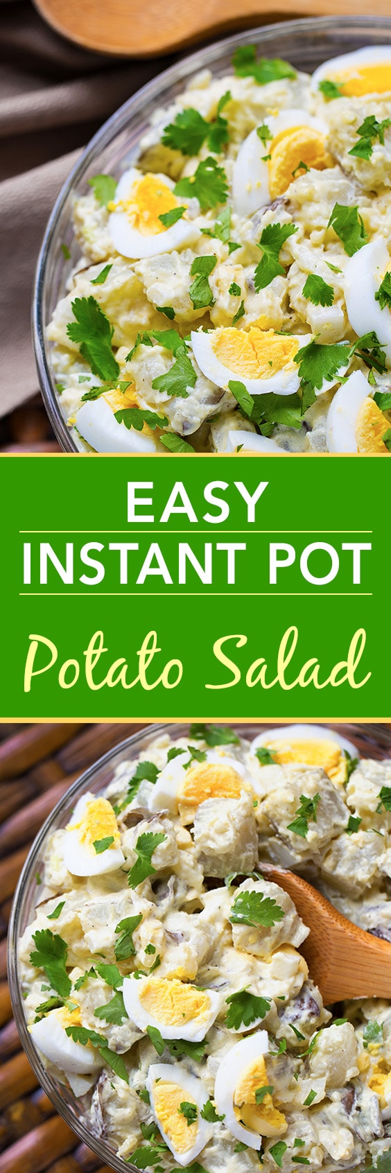 Easy Instant Pot Potato Salad is tasty and simple. Yay for the Instant Pot! simplyhappyfoodie.com