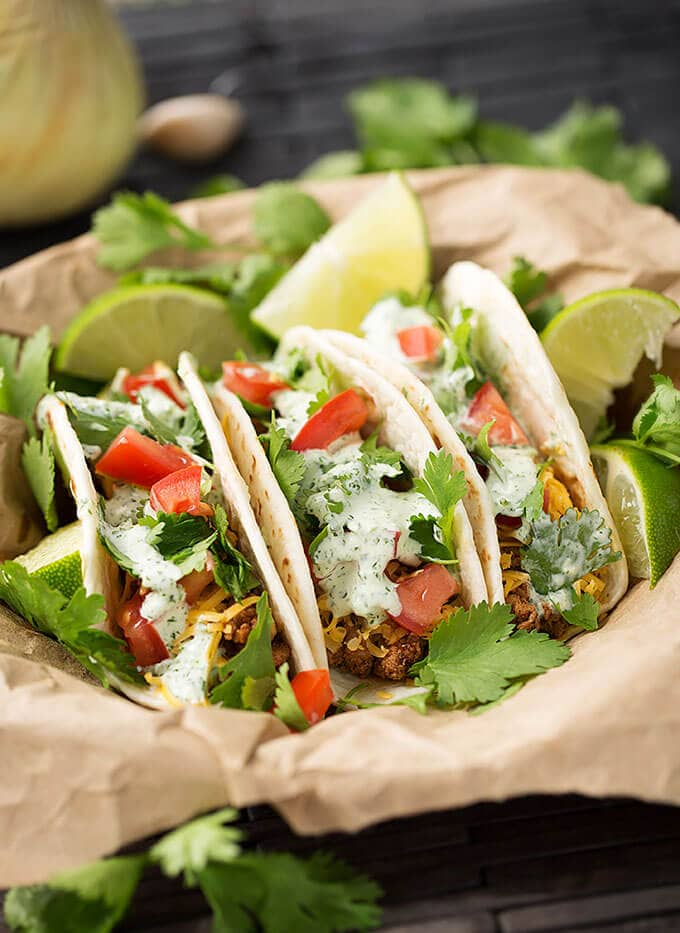 Turkey Street Tacos With Cilantro Cream Sauce Simply
