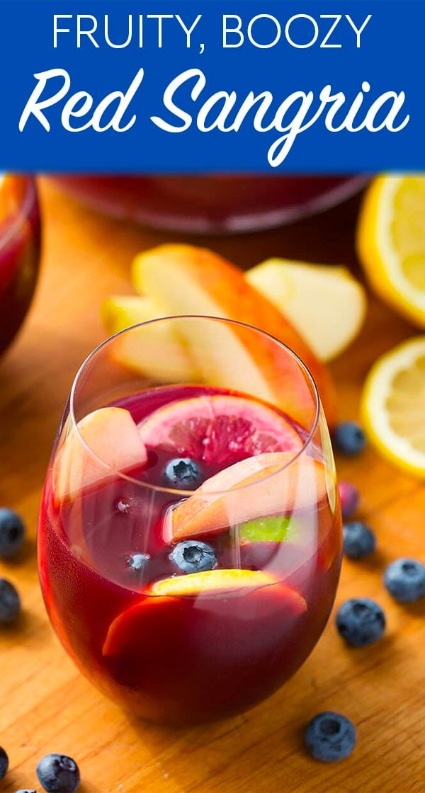 Fruity Red Sangria in a glass