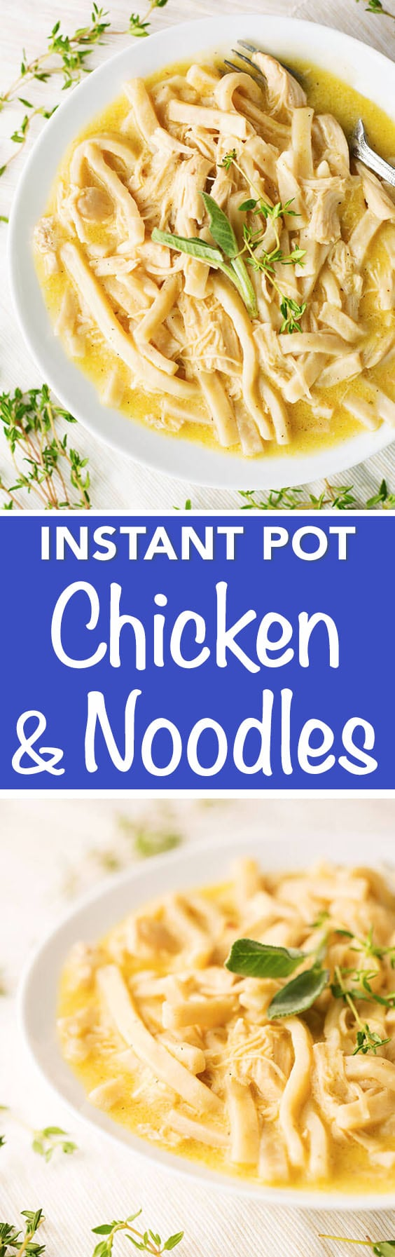 instant pot chicken and noodles  simply happy foodie