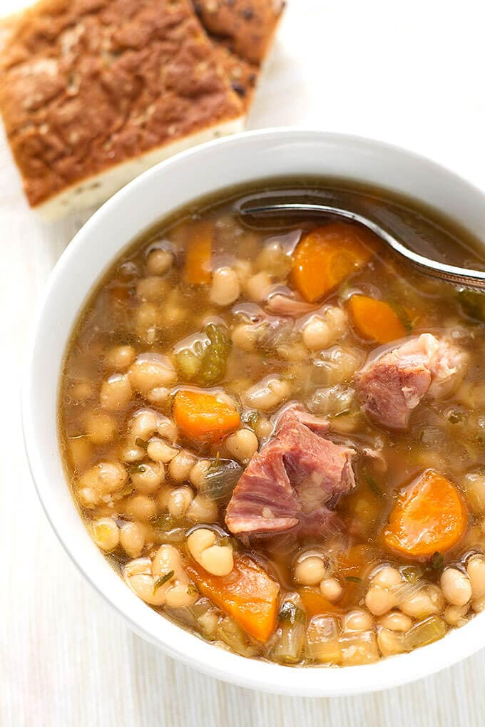Instant Pot Ham Hock and Bean Soup