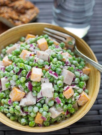 Pea Salad with Smoked Turkey