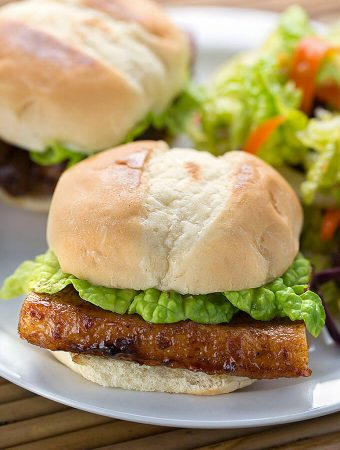 Asian Pork Belly Sliders - simplyhappyfoodie.com