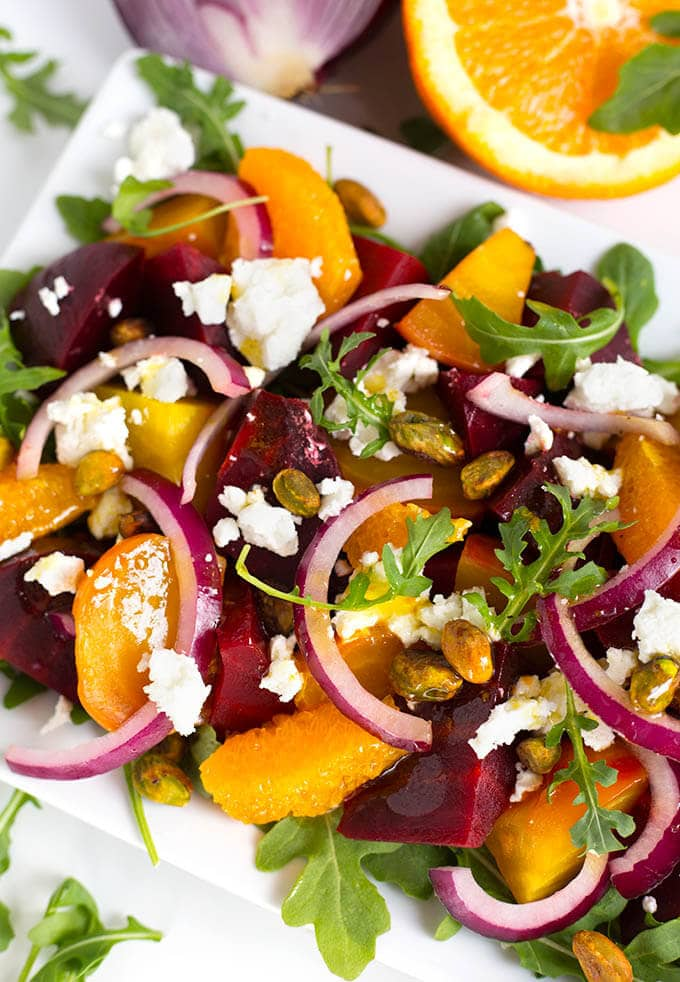 Beet Salad with Goat Cheese and Orange Vinaigrette ...