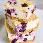 Blueberry Lemon Cheesecake Squares - simplyhappyfoodie.com