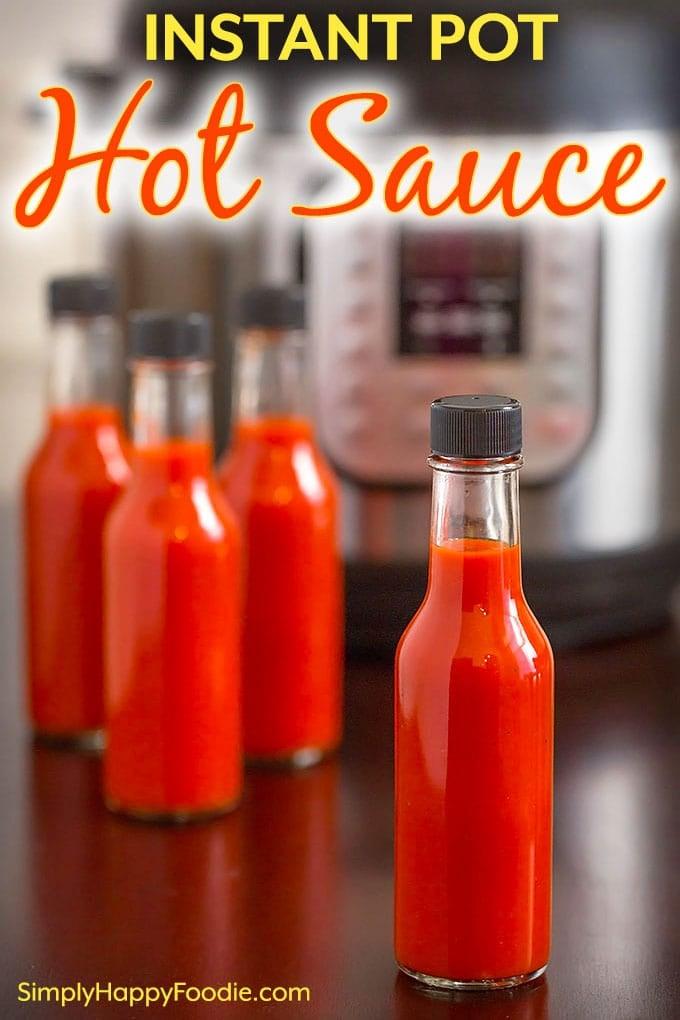 Instant Pot Hot Sauce pinterest pin