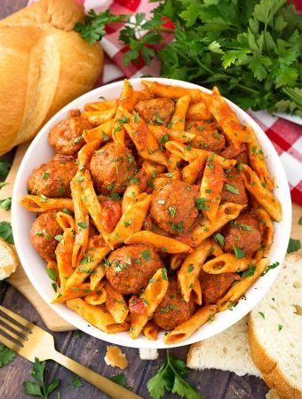 Instant Pot Meatball Pasta Dinner