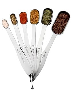 Spring Chef Heavy Duty Stainless Steel Metal Measuring Spoons with spices