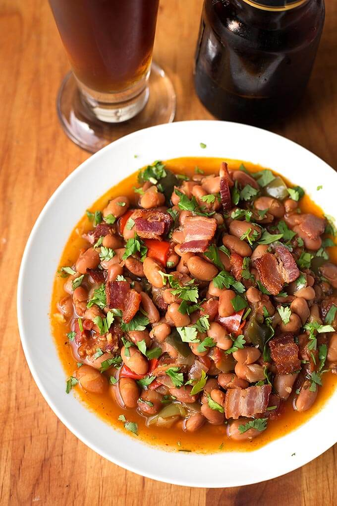 Instant Pot Drunken Beans (Frijoles Borrachos) | Simply ...