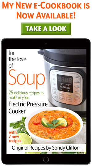 For the love of soup pressure cooker instant pot recipes e-cookbook. simplyhappyfoodie.com #instantpotrecipes #instantpotsouprecipes #instantpotsoup Instantpotcookbook #pressurecookercookbook