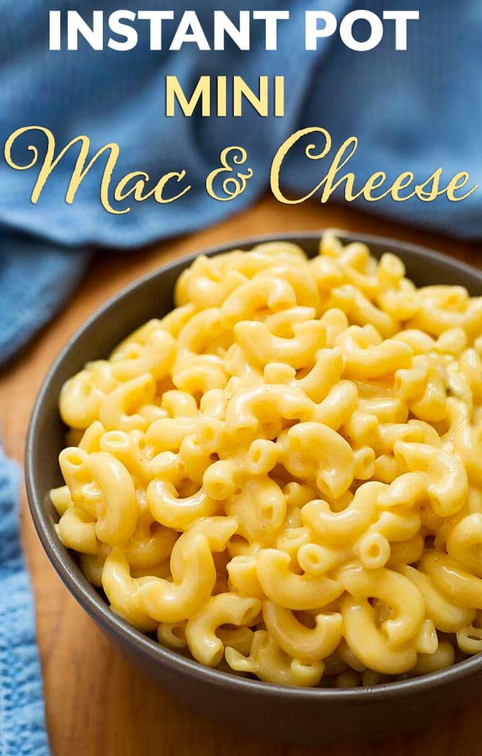 3 qt Instant Pot Mac and Cheese is a creamy delicious mac and cheese made in your 3 quart Mini electric pressure cooker. Makes 3.5 cups. simplyhappyfoodie