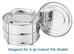 Aozita stainless stackable - 8 quart