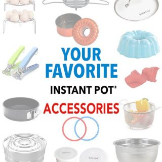 This is a list of Favorite Instant Pot Accessories. I am often asked what my favorite pressure cooker accessories are. So here is the list, which I update fairly often. simplyhappyfoodie.com #instantpotaccessories #pressurecookeraccessories