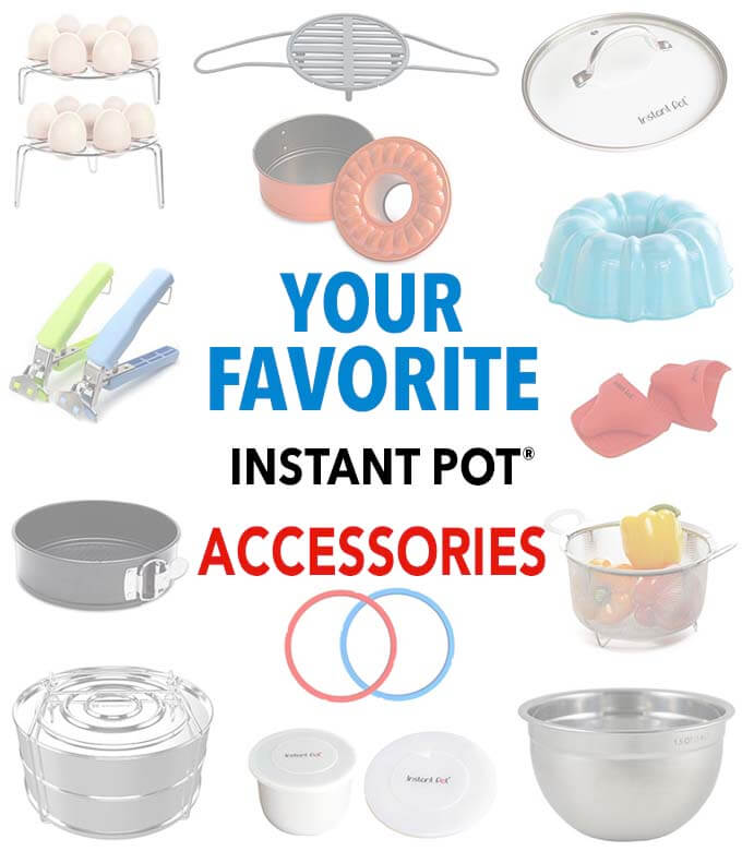 Picture showing Simply Happy Foodie's Favorite Instant Pot Accessories