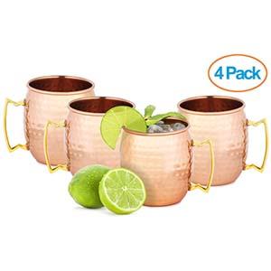 Set of 4 Copper Mugs