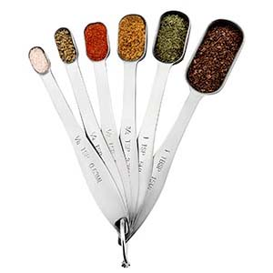 Spring Chef Heavy Duty Stainless-Steel Metal Measuring Spoons