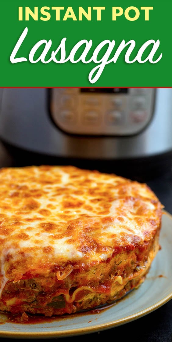 Instant Pot Lasagna is delicious and hearty. No need to pre-cook the pasta for this Instant Pot Lasagna recipe. Pressure cooker lasagna is easy to make and tastes so good! Instant Pot recipes by simplyhappyfoodie.com #instantpotlasagna #pressurecookerlasagna