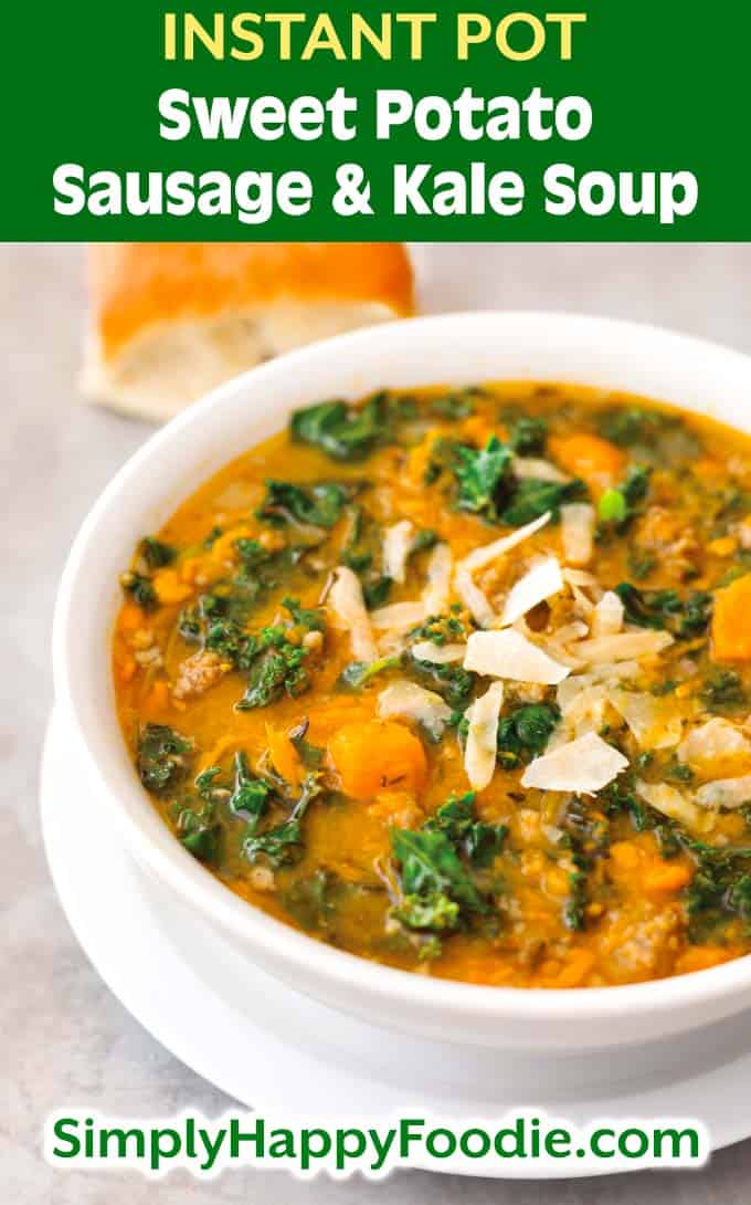 Instant Pot Sweet Potato Sausage and Kale Soup