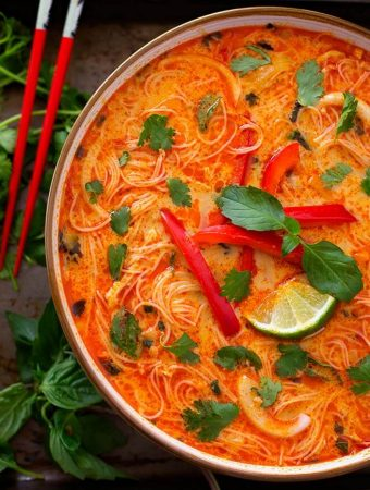 Instant Pot Coconut Red Curry Noodle Soup