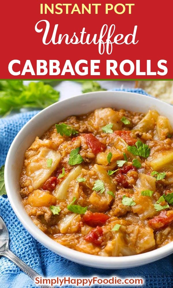Instant Pot Unstuffed Cabbage Rolls