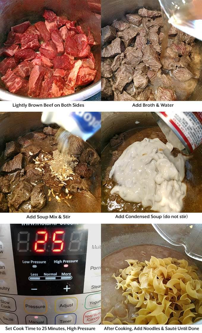 instant-pot-beef-and-noodles-process