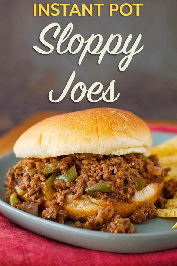 Instant Pot Sloppy Joes are tangy and a little sweet, with lots of flavor. Make this sloppy Joes recipe with ground beef or ground turkey. Enjoy pressure cooker Sloppy Joes for a quick dinner. simplyhappyfoodie.com #instantpotsloppyjoes #pressurecookersloppyjoes