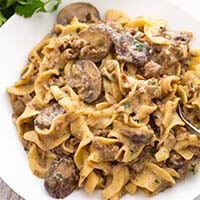 Instant Pot Hamburger Stroganoff