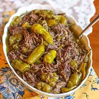 Pepperoncini Italian Beef (4 ingredients)