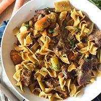 Instant Pot Beef Stew Pasta