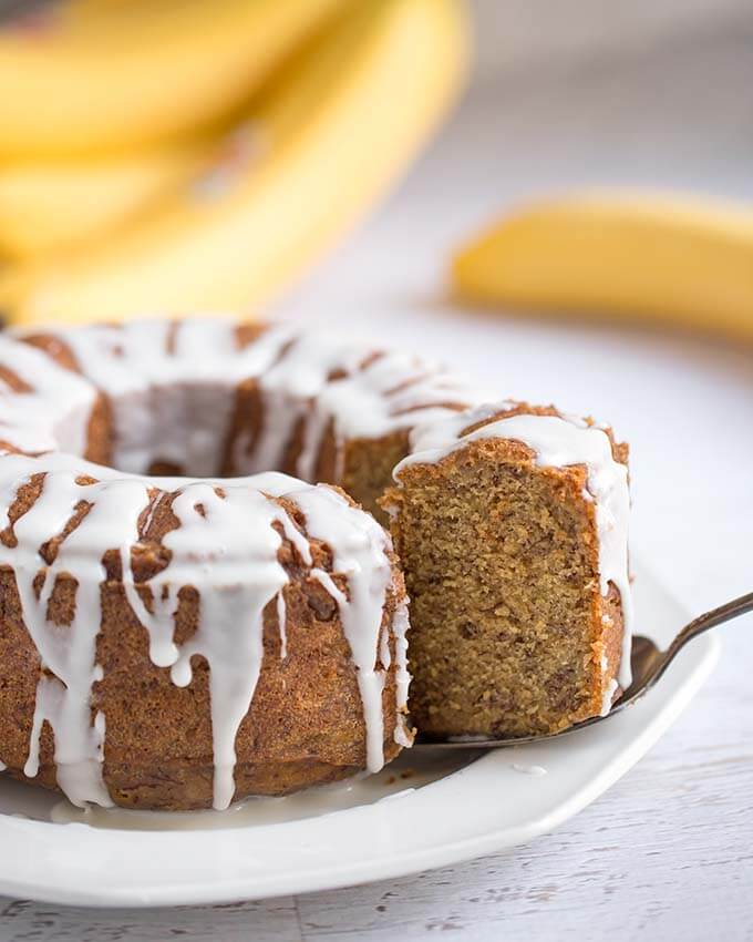 Instant Pot Banana Bread is sweet, tender, and so delicious. All you need is three ripe bananas, and you are on your way to a delicious banana bread. Pressure cooker banana bread is really easy to make and will bring memories of home. simplyhappyfoodie.com #instantpotbananabread #pressurecookerbananabread