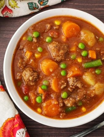 Instant Pot Hamburger Soup