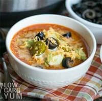 Instant Pot Low Carb Taco Soup