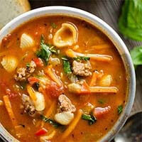 Pressure Cooker Hamburger Pasta Soup