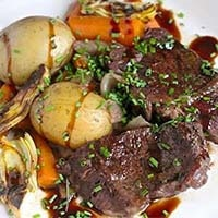 Braised Short Ribs with Vegetables and Artichoke Hearts