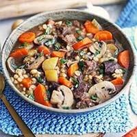 Instant Pot Beef Barley Mushroom Soup