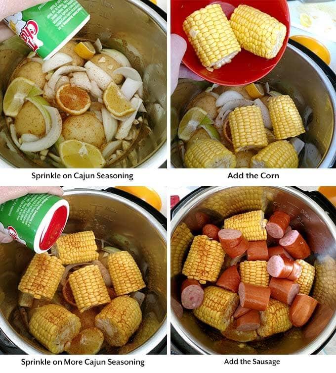 instant pot low country shrimp boil process 3