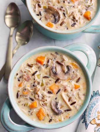 Instant Pot Wild Rice Soup with Chicken