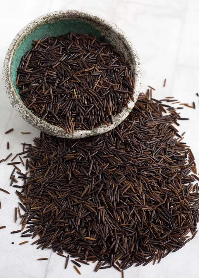 wild rice grains