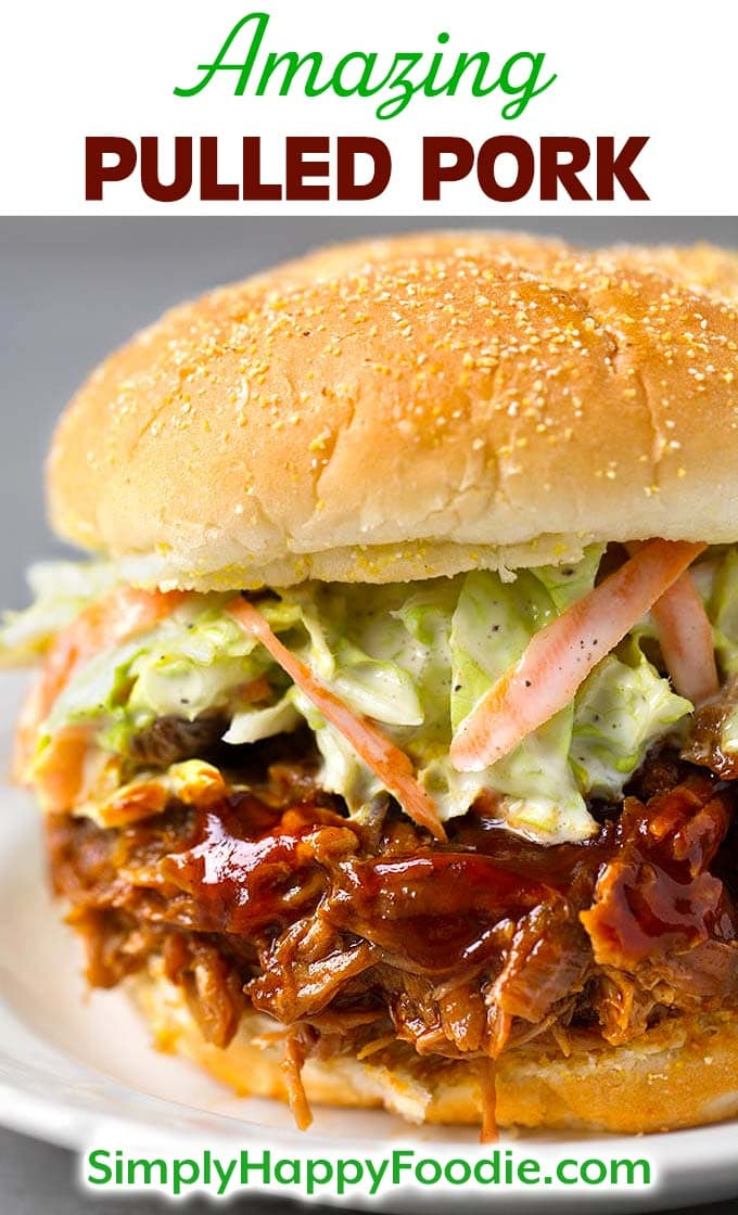 Amazing Pulled Pork Recipe by simplyhappyfoodie.com