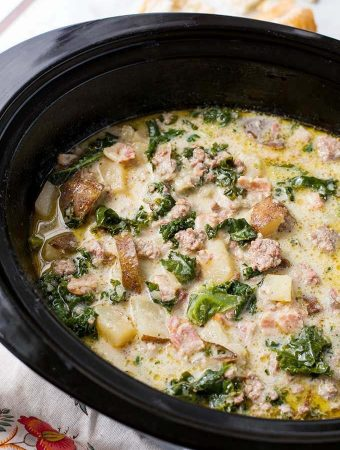 Crock Pot Zuppa Toscana Sausage Potato Soup