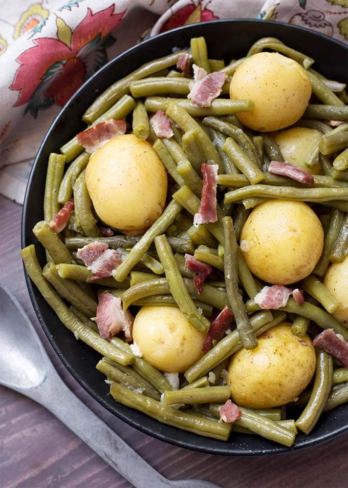 Instant Pot Green Beans With Potatoes And Bacon Simply Happy Foodie