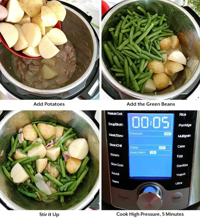Instant Pot Green Beans With Potatoes And Bacon Simply