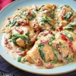 Slow Cooker Creamy Tuscan Chicken recipe
