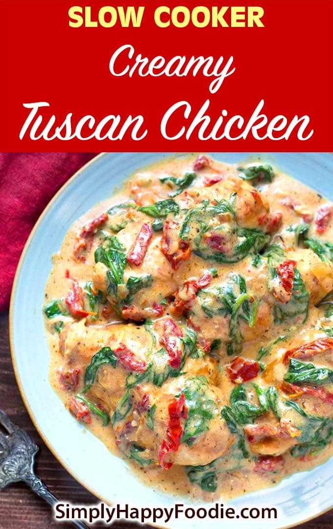 Slow Cooker Creamy Tuscan Chicken recipe pinterest imante