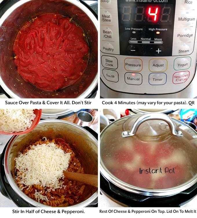 instant pot pizza pasta casserole process 2