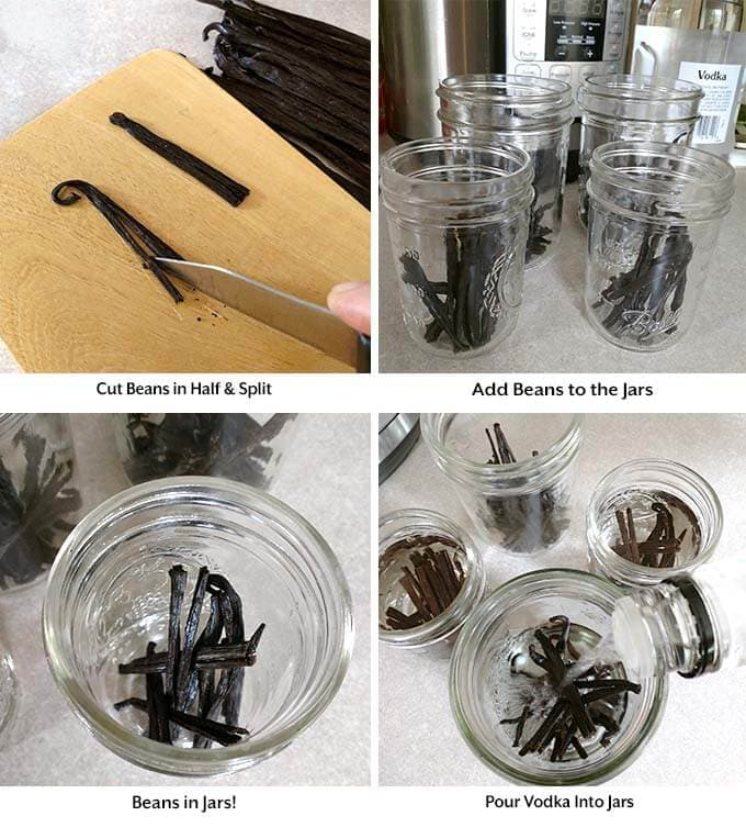Instant Pot Vanilla Extract is a wonderful homemade vanilla that is so easy to make from vanilla beans! Pressure cooker vanilla extract is delicious, and makes great gifts! Homemade Instant Pot vanilla extract recipe by simplyhappyfoodie.com #instantpotvanilla #pressurecookervanilla #instantpotrecipes #pressurecookerrecipes