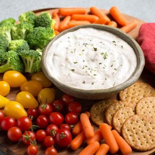 Ranch Vegetable Dip is an easy, quick 3 ingredient dip. This ranch dip recipe is a good dip for vegetables, carrots, cauliflower, etc. Mix up this ranch veggie dip to serve at a party, or as a Game Day dip for vegetables and chips! simplyhappyfoodie.com #ranchvegetabledip #vegetabledip #dipforvegetables #diprecipeRanch Vegetable Dip is an easy, quick 3 ingredient dip. This ranch dip recipe is good dip for vegetables, carrots, cauliflower, etc. Mix up this ranch veggie dip to serve at a party, or as a Game Day dip for vegetables and chips! simplyhappyfoodie.com #ranchvegetabledip #vegetabledip #dipforvegetables #diprecipe