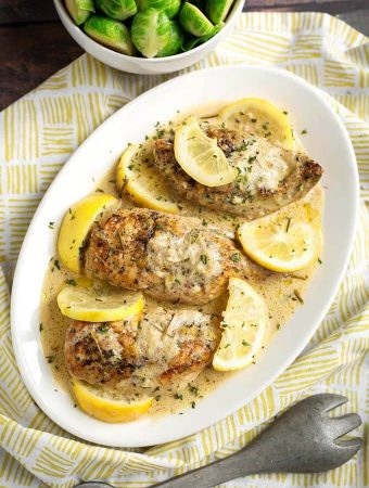 Crock Pot Creamy Lemon Chicken Breasts